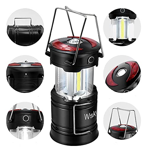 Wsky Led Camping Lantern Rechargeable - Hight Lumen - Best Lantern Flashlight Light, Rechargeable, 4 Modes, Water Resistant Light - Best Camping, Outdoor, Emergency Flashlights Lanterns