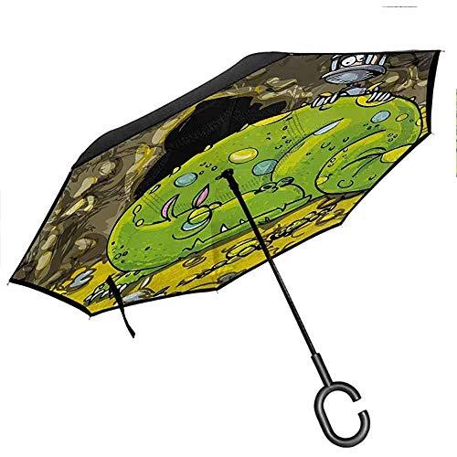Gekritzel-umgekehrter Regenschirm-Reise-kompakte Turnschuhe in der Hand, die Art-zufällige Schuh-Jugendlich-städtischen Lebensstil ThemeUmbrella zeichnen