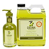 Cucina Hand Soap 200 Milliliter and 1 Liter Refill Set (Coriander and Olive Tree)