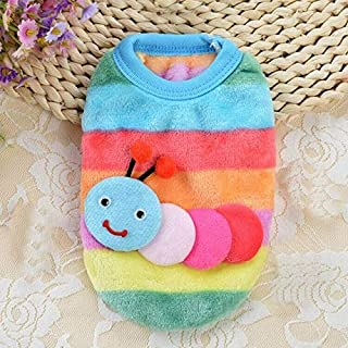 BEESCLOVER Clothes for Dogs Colorful Cotton Blend Pet Cat Dog Puppy Warm Knit Coat Cute Fresh Clothes Vest Jacket Apparel Ropa Perro #7317 A XXXS