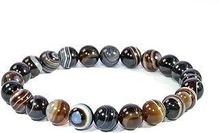 Jan Dee Natural Semi-Precious Gemstone Healing Power Sardonyx Agate Crystal Bracelet