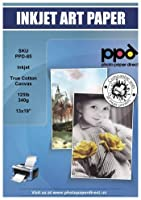 PPD インクジェットトゥルーアートキャンバス 13x19インチ 350gsm x 10枚 85-10