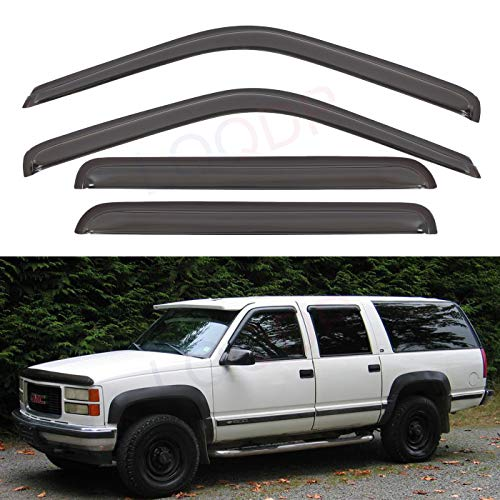 Window Visor Rain Guard New Set Vent Wind Fit for 1995-1999 Chevy Tahoe 2-Dr