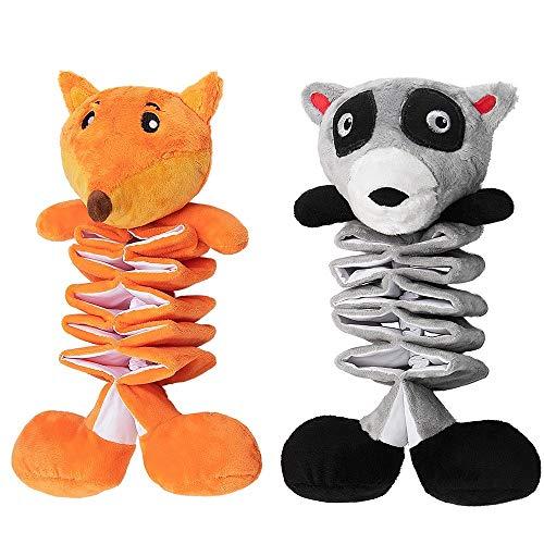 AWOOF Hundespielzeug - 2 STK Welpenspielzeug Kuscheltier für Welpen/kleine mittelgroße Hunde - Kauspielzeug und Quietschspielzeug Intelligenz mit Crinkle-Papier