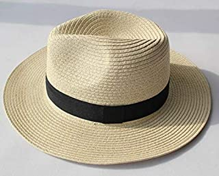 قبعة صيفية عصرية لطيفة للشاطئ من القش بحافة واسعة للنساء