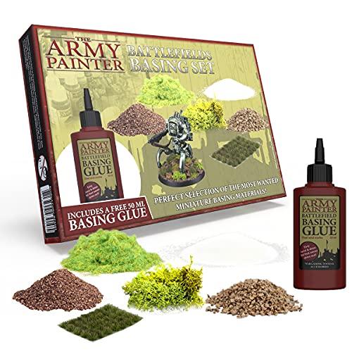 The Army Painter | Battlefields Basing Set | Basegestaltung | Szenerie | inklusive kostenlosem Kleber und Anleitung für Wargames, Tabletop, Rollenspiel Miniatur-Modellierung und -Malerei