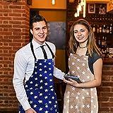 WELLXUNK Schürze,Küchenschürze Damen Schürze Kochschürze,Schürze mit Tasche für Frauen Kochen Arbeit Hausarbeit,zum Kochen oder Backen (grau) - 7