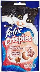 FELIX - Snack Para Gatos Crispies Sabor Salmón Bolsa 45 Gr