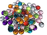 Crystal King, pietre acriliche ottagonali da 40mm da appendere, per cucire, come strass, per gioielli, come decorazione