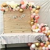 Kit de Guirlande de Ballon de 100 Pièces pour la Décoration d'Anniversaire de Fille, Blush Bridal Shower, Décors de Mariage, Décorations de Fête de Douche de Bébé, Rose, Jaune, Orange, Or Rose Ballons