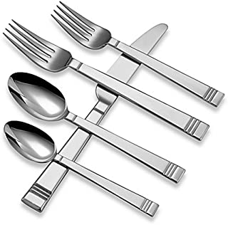 Lenox 18/10 Stainless Tin Can Alley 22 Piece Flatware / Silverware Set (Service for Four)