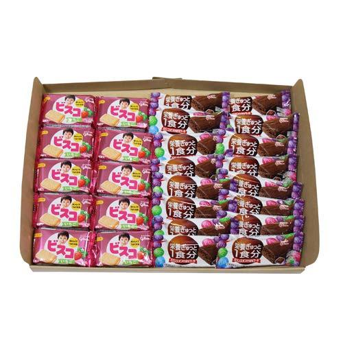 グリコ ビスコミニパック〈いちご〉5枚(10コ)& バランスオンminiケーキ チョコブラウニー(16コ)セット