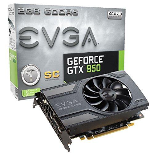 EVGA 02G-P4-2951-KR NVIDIA VGA GTX950 Grafikkarte (PCI-e 2GB, GDDR5, HDMI, 2X DVI, DP 1 GPU)