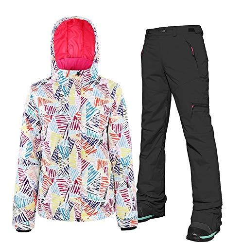 Mimioore Dameskipak met dubbele plank en snowboard-jurk, dik, warm en winddicht, voor dames