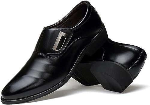 XHD-Chaussures XHD-Chaussures XHD-Chaussures Chaussures de Ville pour Hommes Simples, Cuir PU Mat, empièceHommests matelassés à Tige supérieure, Talons Hauts (Couleur   Noir, Taille   11MUS) 05e