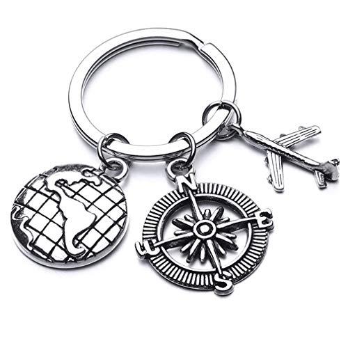 Pinhan Mini Axe Chopper Säge Feder Kompass Pfeil Anhänger Schlüsselring Mode Liebe Papa Brief Geschnitzte Schlüsselbund für Vater Geschenk, Typ 7