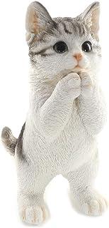 [ファンシー] ca76 (サバトラ) 誕生日プレゼント 女性 人気 彼女 ネコ サバトラ ホワイトデーお返し プ レゼント 人気 ギフト 猫 置物 インテリア ガーデニング ガーデンオーナメント 猫 好き な 人 へ の プレゼント 結婚記念...