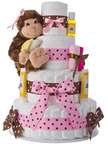 Diaper Cake - Pink Monkey...