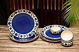 Freakway Floral Ceramic Plates for Dinner with Katoris (8 Pieces, 4 Bowl & 4 Plates, Dishwasher & Microwave Safe) -Dinner Sets Ceramic Bowls Set Dinnerware Sets