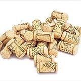 Enkrio Tapón de corcho de vino natural recto para embotellar vinos o corchos artesanales a granel, 1-3/5' x 4/5' (paquete de 100)