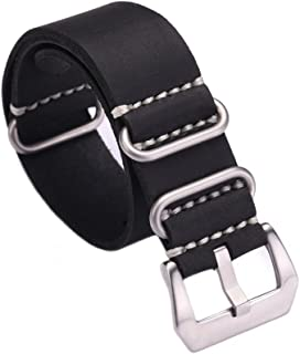 Carty Replacement Watch Band Strap Vintage Handmade Crazy Horse Leather Zulu NATO 20mm22mm24mm