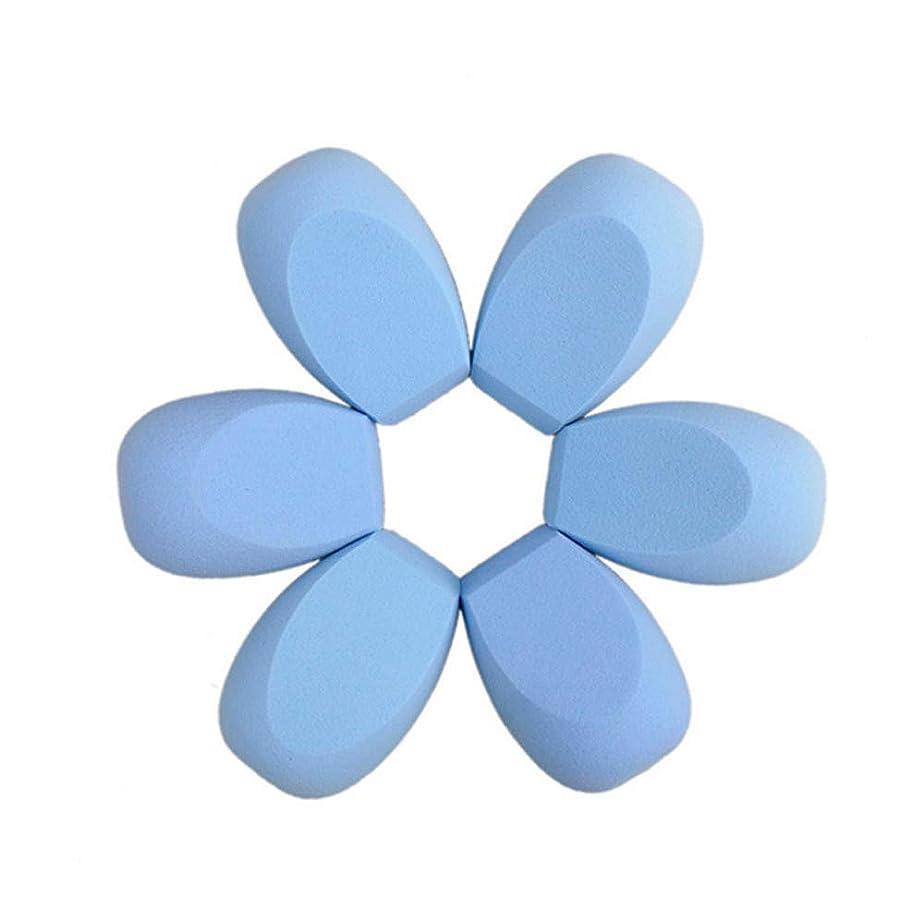いたずらな冷蔵する癒すLazayyii メイクブレンダーファンデーションパフ斜め3Dパウダーパフスポンジ (ブルー)
