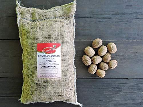 ITALIENISCHE walnüsse mit schale aus Sorrent Ökologisch - Jutesack 1 kg - naturbelassen - unbehandelte - SORRENTINO Fruttaseccaesalute