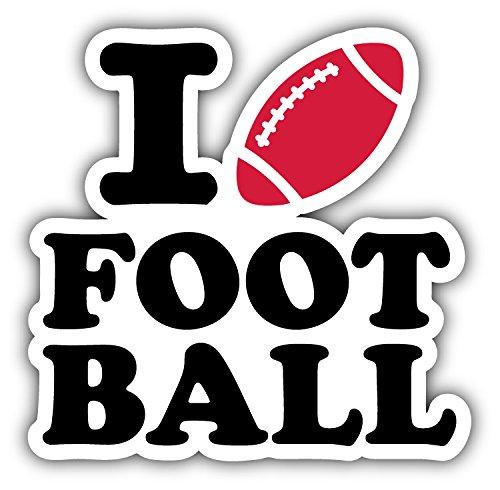 I Love Football Auto-Dekor-Vinylaufkleber 12 X 12 cm