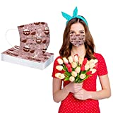 Alangbudu 3-Ply Disposable Face_Masks, No Washable, Dust Proof ,Non-Woven M-ask Easter Basket_Masks For Adult Outdoor (50PC)