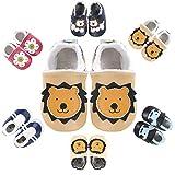 Zapatos de Cuero Suave para Bebés Bebé Primeros Pasos Zapatos 1-4 años Niños...