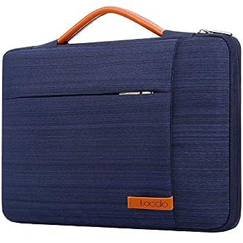 Lacdo 360° Protective Laptop Sleeve Case Computer Bag for 15.6 Inch Acer Aspire Predator Inspiron ASUS ZenBook 15 VivoBook HP Pavilion IdeaPad 330 ThinkPad E590 Chromebook Water Repellent Blue