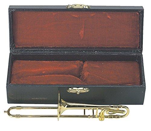 Gewa 980592 Miniature Strumento Musicale Trombone in Astuccio, 15 cm