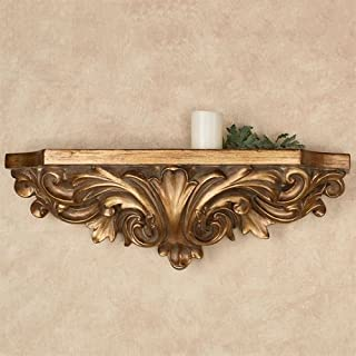 Touch Of Class Astrella Wall Shelf Aged Gold