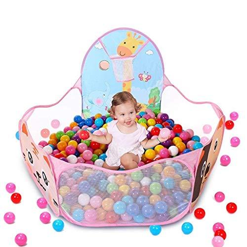 AABBC Playpens Kids Ball Pit Tienda de Juegos para Interiores y Exteriores Piscina de Bolas Plegable portátil con aro de Baloncesto Bolsa de Almacenamiento con Cremallera para niños pequeños, niña