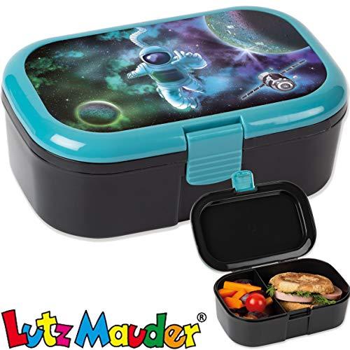 Lunchbox * Astronaut * für Kinder von Lutz Mauder | 10678 | Perfekt für Weltraum-Fans | Vesperdose Brotdose Brotzeit Schule Grundschule Einschulung Space Weltall All Rakete