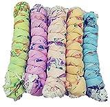 Fabkart Women's Printed Cotton Dupatta (Multicolored, Pack of 5)