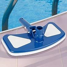YAOLAN Azul y Blanco Aspirador de Piscina, Portátil Limpiafondo Manual Piscina con Cepillo, Accesorios de Limpieza para SPA Estanque Jacuzzi