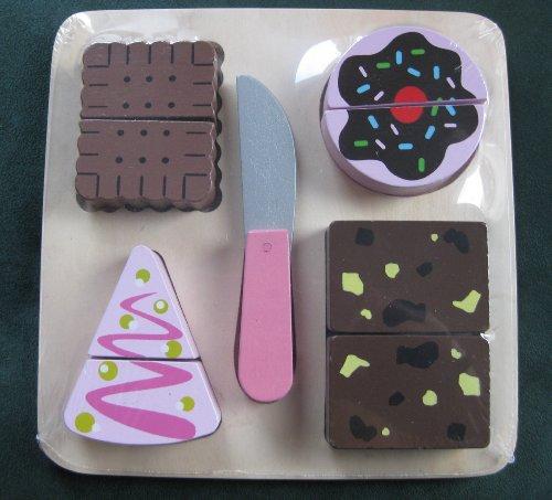 Holzspielzeug Torte Kuchen Kekse Muffin Messer aus Holz
