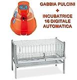 Novital INCUBATRICE COVATUTTO 16L Digitale Automatica Uova Piu' Gabbia per Pulcini da CM.1...