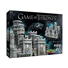 910 easy to handle thick snug tight-fitting pieces; No glue required 3D puzzle assembled Dimensions: 17.75 x 12.25 x 10.25 inches A challenging 3D puzzle for game Of Thrones fans Assembly instructions included; Ages 14+ Made in Canada using unique fo...
