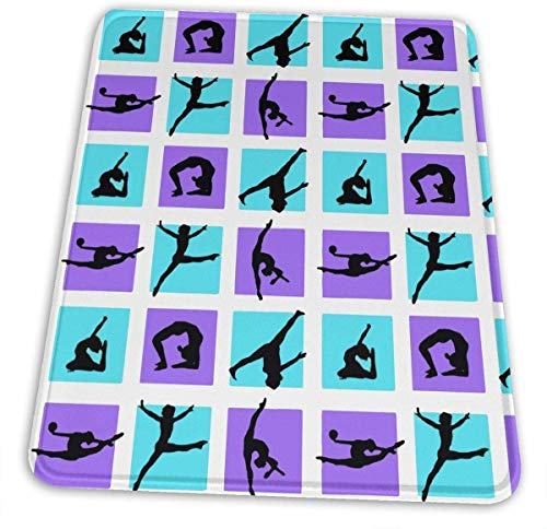 HJJL Mauspad Gymnastics Game Gaming Mouse Pad Custom-Natural Rubber Mouse Pad-Multiple Sizes-Multi-Pattern,Mouse Pad Non-Slip Rectangle for Computers,Laptop,PC,Office & Home