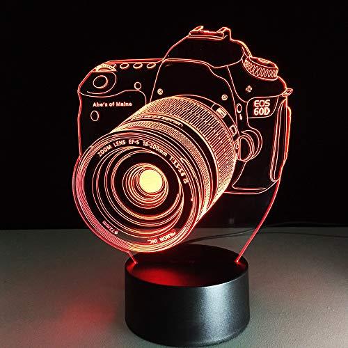 3D-lamp camera illusie LED USB-lamp Touch RGB 7 kleuren veranderende tafel nachtlicht bedside decoratie voor kinderen Gifts