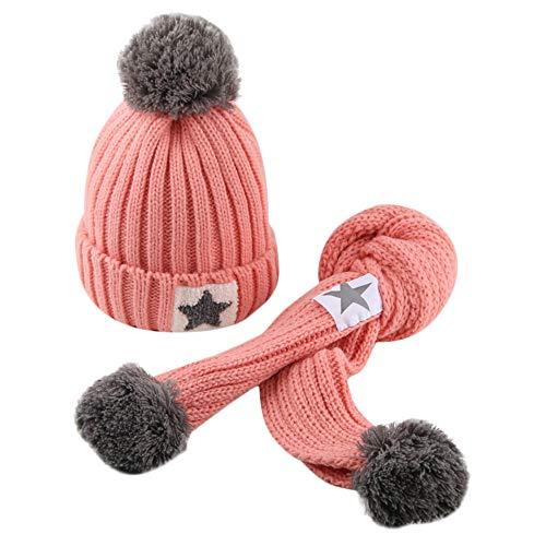 ODJOY-FAN-bambino capelli grandi Lana Cappello lavorato a maglia sciarpa tute-Moda carino neonato mantenere caldo Cappelli invernali maglia orlatura di lana cappello Lana di maglia