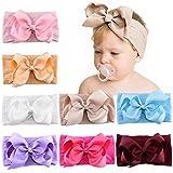 8 piezas 5 pulgadas bebé niñas lazos para el cabello diademas de nailon cinta de grosgrain banda para el cabello accesorios elásticos para el cabello para niños bebés niños pequeños