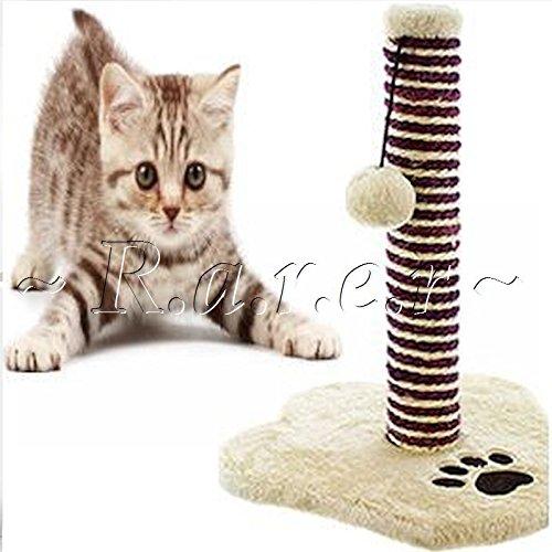Chaton Animal domestique Purrfect Groom Scratch Chewing jouet Fun Play Livrée de chocolat Haut Pole en sisal Post Bon Naturel pour entretien des griffes