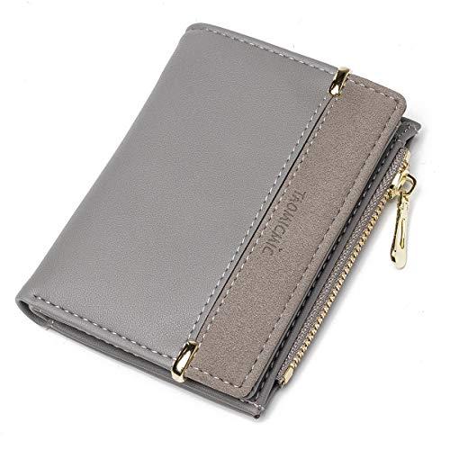 JOSEKO Portafogli da donna, portafogli in pelle PU, portafogli multi-slot, portafogli piccoli, borse leggere da donna # Grigio
