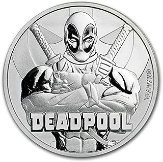 2018 Tuvalu 1 oz .999 Silver Marvel Series Deadpool BU $1 Brilliant Uncirculated