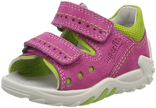 Superfit Baby Mädchen Flow Sandalen, Pink (Pink Multi), 21 EU