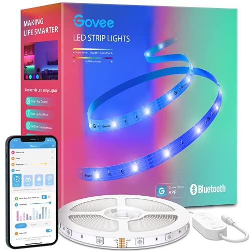 Govee Tiras LED 10m, Luces LED Bluetooth Control de App con 64 Modos de Escena y Sincronización de Música, Tira LED RGB para Habitacion, Cocina, Fiesta, Bricolaje,...