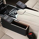 Capturador de asiento de coche gap Filler con puertos USB, vehículo asiento de coche organizador, cambios de piel universal, monedas colector por toprated